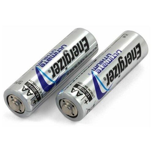 Батарейки литиевые Energizer LR06 (AA) Ultimate Lithium (2 шт) батарейка energizer ultimate lithium aa 2 шт