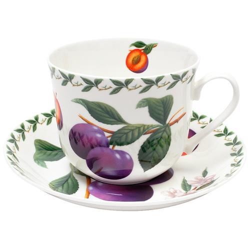 Фото - Чайная пара MAXWELL & WILLIAMS Слива, 480 мл, белый/зеленый/фиолетовый пара чайная priority дыхание прованса вишня 480 мл