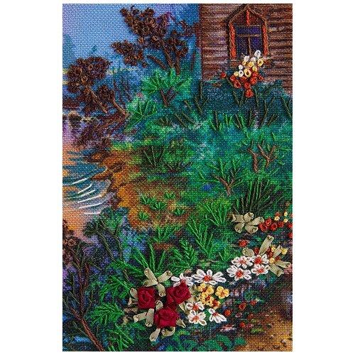 Купить PANNA Набор для вышивания нитками и лентами Живая картина Фрагмент Тропинка к дому 6 х 9 см (ЖК-2064) лентами, Наборы для вышивания
