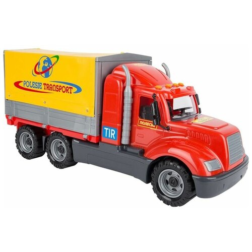 Фургон Wader Майк с тентом (55552), 53 см, красный/желтый фургон wader спасательная команда 0537 24 см