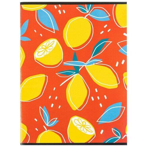 Купить Тетрадь общая А4, 96л, кл, скоб, блок-офсет-2 Attache Лимоны красные 3 штуки, Тетради