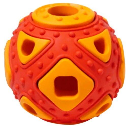 Игрушка для собак Homepet Silver Series мяч фигурный каучук красно-оранжевый 6,4 х 5,9 см (1 шт)