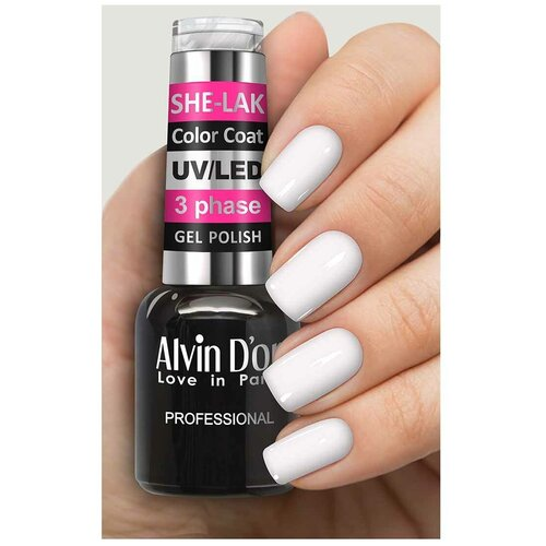 Купить Гель-лак для ногтей Alvin D'or She-Lak Color Coat, 8 мл, 3501