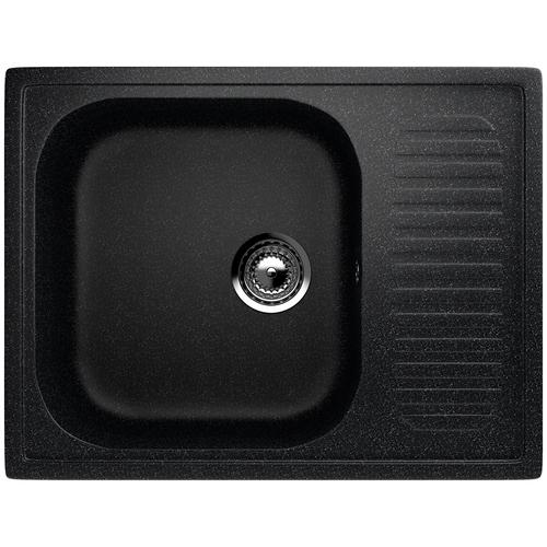 Фото - Врезная кухонная мойка 64 см EcoStone ES-18 308 черный врезная кухонная мойка 103 см ecostone es 29 308 черный