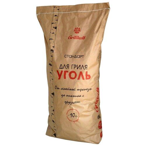 Фото - Grillkoff Уголь березовый для гриля «Стандарт», 10 кг grillkoff уголь древесный для гриля эконом 26 л
