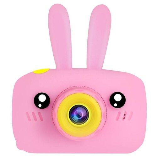 Фото - Фотоаппарат Children's Fun Camera Зайчик розовый фотоаппарат gsmin fun camera rabbit со встроенной памятью и играми голубой