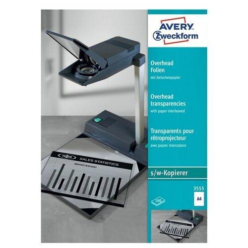 Пленка Avery Zweckform А4 3555 150 г/м² 100 лист., прозрачный