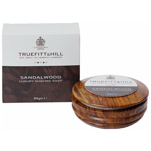 Купить Мыло для бритья Sandalwood в деревянной чаше Truefitt & Hill, 99 г