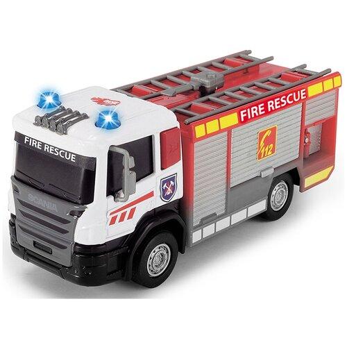 Фото - Пожарный автомобиль Dickie Toys 3712016-1, 17 см, красный гидроцикл dickie toys пожарный сэм джуно с фигуркой и аксессуарами 9251662 красный желтый