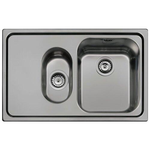 Врезная кухонная мойка 79 см Smeg SP7915S состаренное серебро врезная кухонная мойка 79 см smeg sp791s 2 нержавеющая сталь матовая