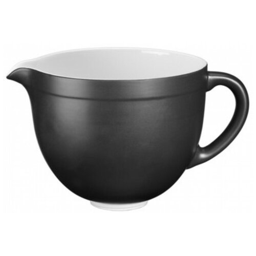 kitchenaid чугунная кастрюля 3 77 л 24 см черная kcpi40crob kitchenaid Чаша керамическая 4,7 л, матово-черная, KitchenAid, 5KSMCB5BM