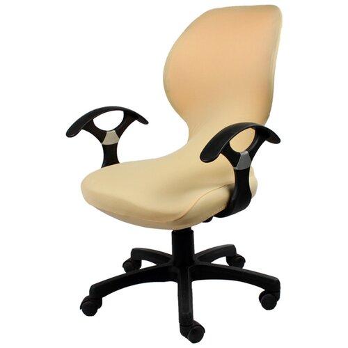Чехол на компьютерное кресло ГЕЛЕОС 722, кремовый