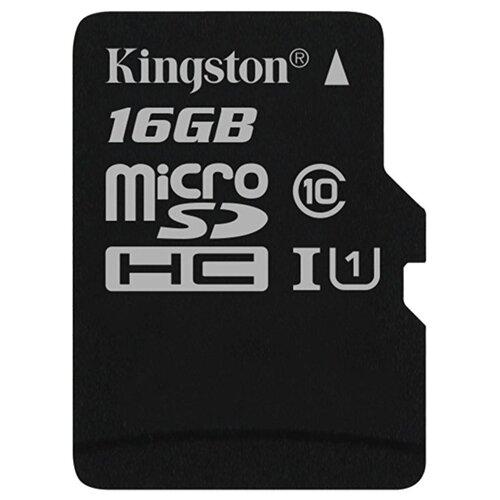 Фото - Карта памяти Kingston Canvas Select microSDHC Class 10 UHS-I U1 16GB + SD adapter (SDCS/16GB) карта памяти kingston canvas select microsd uhs i class 10 16gb с адаптером