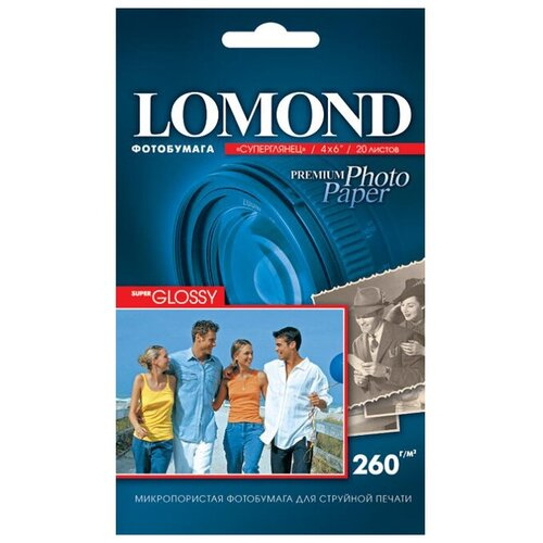 Фото - Бумага Lomond 102 x 152 мм Premium Photo Paper 1103131 260 г/м² 20 лист., белый бумага lomond a4 premium photo paper 1103301 260 г м² 20 лист белый