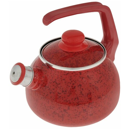 Фото - METROT Чайник со свистком Рубин 2,5 л, красный чайник эмалированный со свистком 2 5 л metrot таково кухня 115432