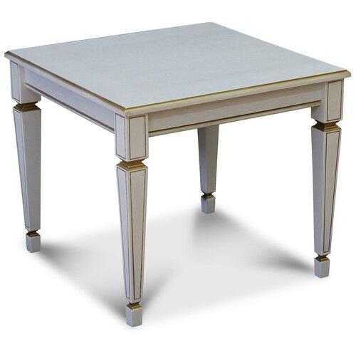 Фото - Столик журнальный Мебелик Васко В 82, ДхШ: 60 х 60 см, белый ясень/золото стол журнальный мебелик васко в 81 белый ясень золото