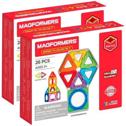 Купить Конструктор Magformers Basic Plus 715014 26 Set (2шт), Конструкторы