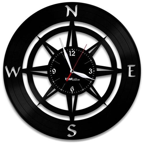 Часы из виниловой пластинки (c) VinylLab Компас