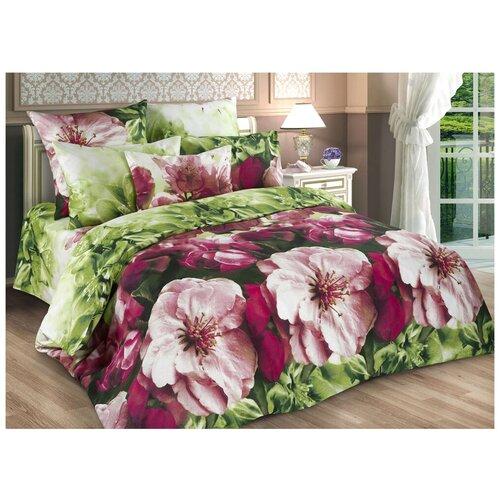 Постельное белье 1.5-спальное Диана-Текс Весенние цветы 4259-2 бязь, 70 х 70 см