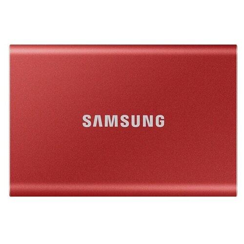 Фото - Внешний SSD Samsung T7 2 TB, красный внешний ssd samsung t7 touch 1 tb серебристый