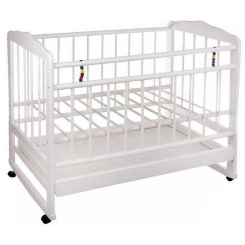 Кроватка ЧП Смирнов Женечка-4 (качалка), на полозьях белый