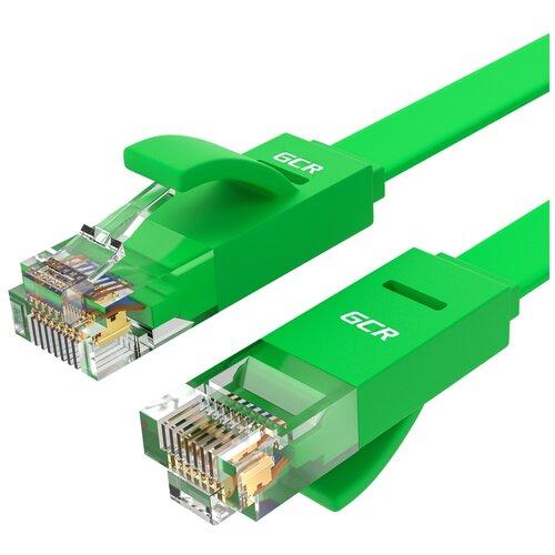 Плоский 1.5м LAN patch cord GCR сетевой кабель патч корд UTP CAT 6 RJ 45 для Ethernet cable роутер smart TV зеленый