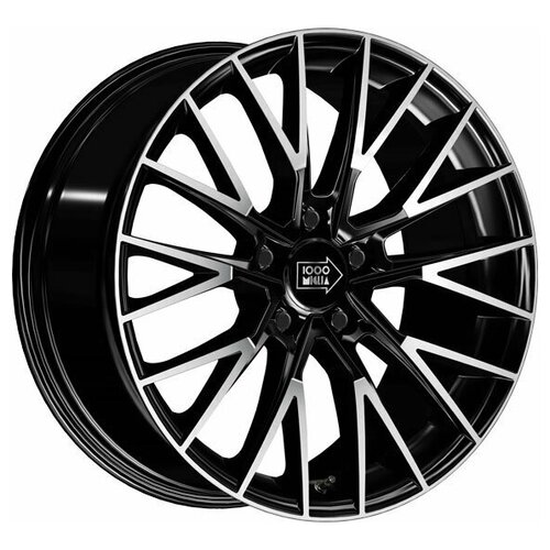 Колесный диск 1000 Miglia MM1009 8x18/5x108 D63.4 ET40 Gloss Black Polished wsp italy c30 night 7 5x18 5x108 d65 1 et52 5 anthracite polished