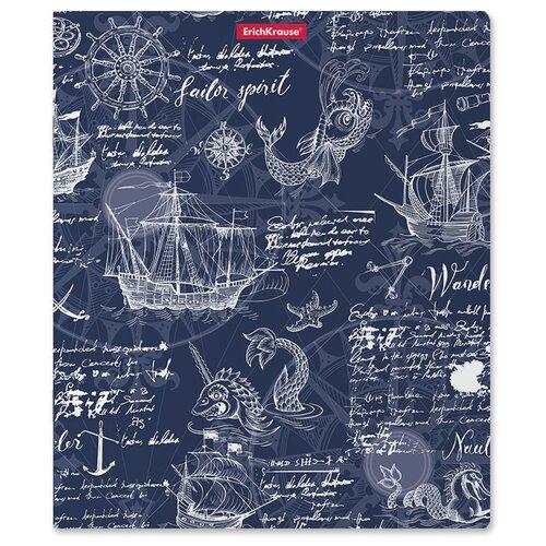 Купить Тетрадь общая ученическая с пластиковой обложкой на скобе ErichKrause Old Map, Mixed Realiry, А5+, 48 листов, клетка, Тетради