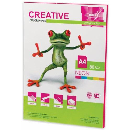 Фото - Бумага Creative A4 Color Neon 80 г/м² 50 лист., малиновый бумага creative a4 студенческая 80 г м² 100 лист белый