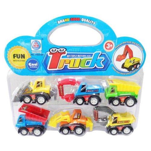 Купить Набор машинок Junfa Строительная техника , 6 шт, инерция, 20*18*4 см (3988-6A), Junfa toys, Машинки и техника