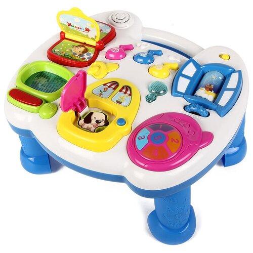 Интерактивная развивающая игрушка Zhorya Умный Я (ZY216429), белый/синий