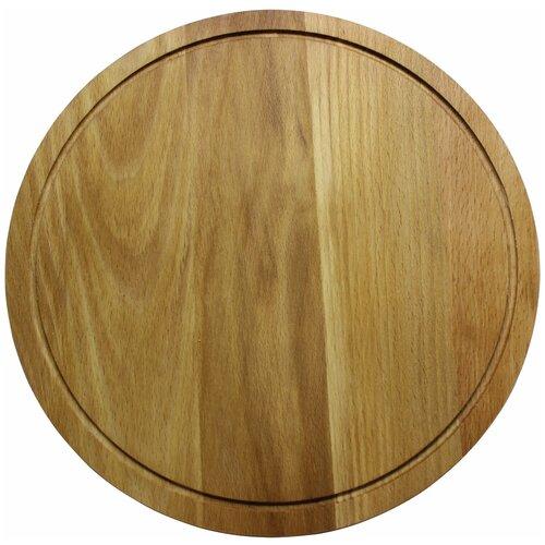 доска разделочная деревянная bohmann bh 02 597 диаметр 25 см Разделочная доска Bohmann BH 02-561, 30 см, бежевый