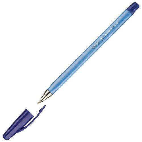 Купить Ручка шариковая Attache Antibacterial А04 масляная, треуг, 0, 5мм, синяя 8 штук, Ручки