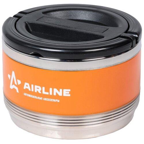 Термос для еды Airline IT-T-01, 0.7 л оранжевый/черный
