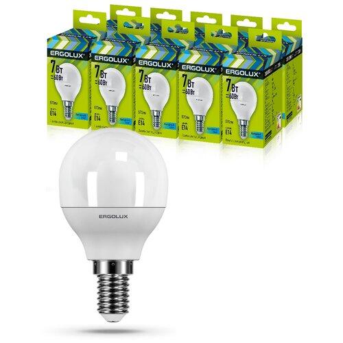 Фото - Светодиодная Лампа Ergolux LED-G45-7W-E14-4K упаковка 10 шт светодиодная лампа ergolux led g45 11w e27 6k упаковка 10 шт