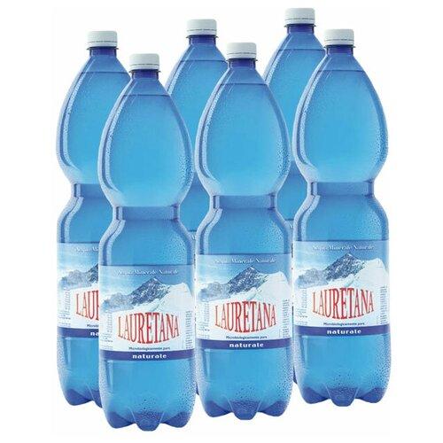 Вода минеральная Lauretana негазированная, ПЭТ, 6 шт. по 1.5 л