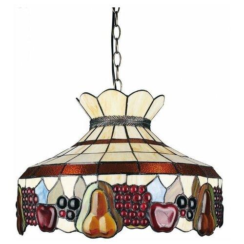Фото - Потолочный светильник Omnilux Alenquer OML-80313-03, E27, 180 Вт, кол-во ламп: 3 шт., цвет арматуры: бронзовый, цвет плафона: разноцветный люстра omnilux alenquer oml 80307 03
