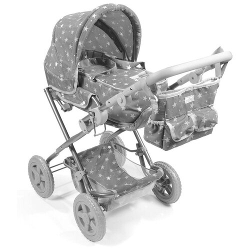 Купить Коляска-трансформер La nina 62098 серый, Коляски для кукол