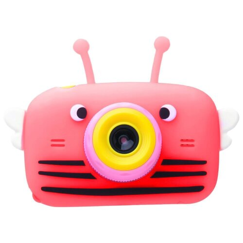 Фото - Фотоаппарат GSMIN Fun Camera View с играми малиновый фотоаппарат children s fun camera микки с wi fi красный