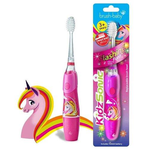 Brush-Baby KidzSonic звуковая зубная щетка Единорог от 3 лет brush baby kidzsonic звуковая зубная щетка ракета от 3 лет