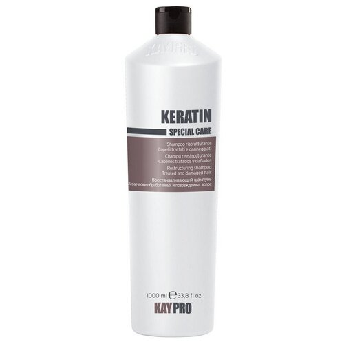 KayPro шампунь Keratin Восстанавливающий для химически обработанных и поврежденных волос, 1 л kaypro шампунь keratin восстанавливающий для химически обработанных и поврежденных волос 350 мл