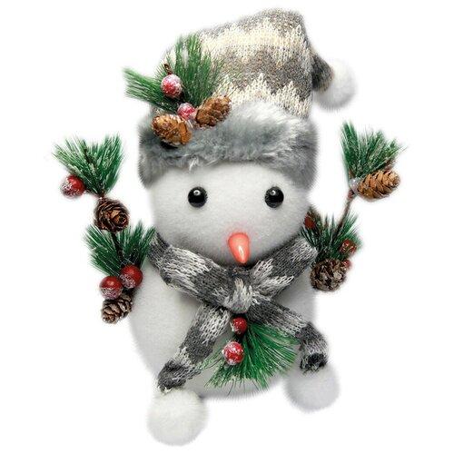 Рождественская декоративная фигурка Снеговик, 20х20 см