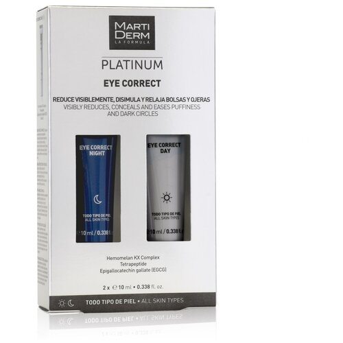 Купить Martiderm Набор для кожи вокруг глаз Platinum Eye Correct Day/Night, 10 мл, 2 шт.