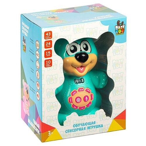 Умный медвежонок BONDIBON BABY YOU свет, музыка, обучающие функций, сенсорные кнопки, голубой (ВВ4993)