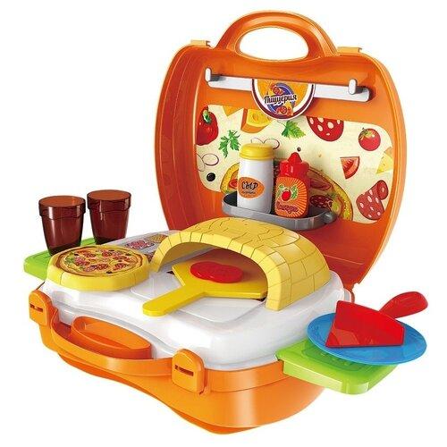 Купить Игровой набор ABtoys Чудо-чемоданчик, Пиццерия, 22 предмета (PT-00460), Детские кухни и бытовая техника