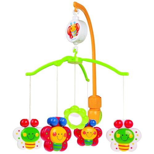 Купить Механический мобиль Canpol Babies Бабочки (2/172) оранжевый/зеленый, Мобили