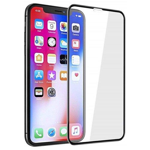 Противоударное защитное стекло для Apple iPhone X, iPhone XS, iPhone 11 Pro / 3D стекло на Эпл Айфон Х, Хс, 11 Про / Закаленное стекло на полную поверхность экрана с олеофобным покрытием (Черный)