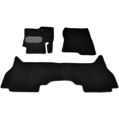 Комплект ковриков салона NorPlast NPL-VTe-590-480 3 шт. черный