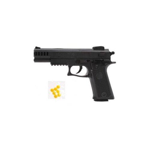 Купить Пистолет механический, в комплекте: пластмассовые пули пакет 1шт. Наша Игрушка ES451-138PB, Наша игрушка, Игрушечное оружие и бластеры