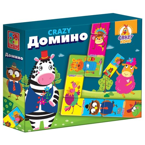Фото - Настольная игра Vladi Toys CRAZY Домино настольная игра vladi toys мир машин